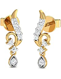 Stylori 18k Yellow Gold and Diamond Metis Drop Earrings