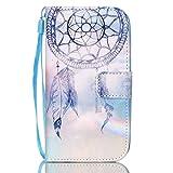 ISAKEN Galaxy S3 Hülle, Galaxy S3 Neo Hülle, Handy Case for Samsung Galaxy S3, Flip Cover PU Leder Case Hülle Handy Tasche Etui Schale für Samsung Galaxy S3 Neo - Licht Lila Traumfänger Dream Catcher