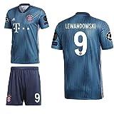 adidas FCB FC Bayern München 3rd Set Champions League 2018 2019 Kinder Lewandowski 9 CL Logos Gr 140