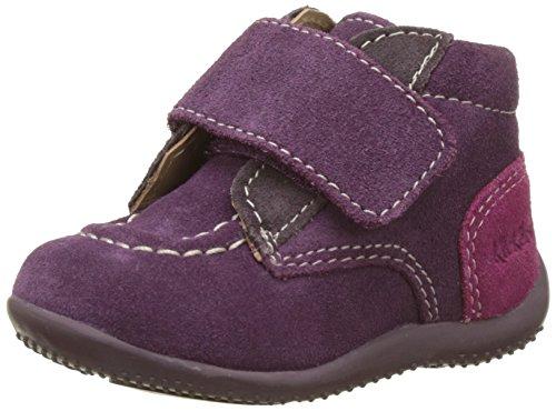 Kickers Baby Mädchen Bono Sneaker, Mehrfarbig (Violet Fce Mauve Fuchsia), 21 EU (Wildleder Kinder Fuchsia Schuhe)
