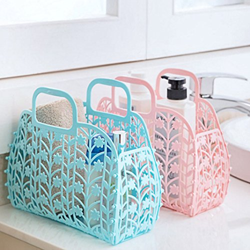 Cesta organizador del baño,Organizador de ducha Rosa Schleife Organizador de juguetes para niños cesta portaobjetos de cocina cesta de la compra