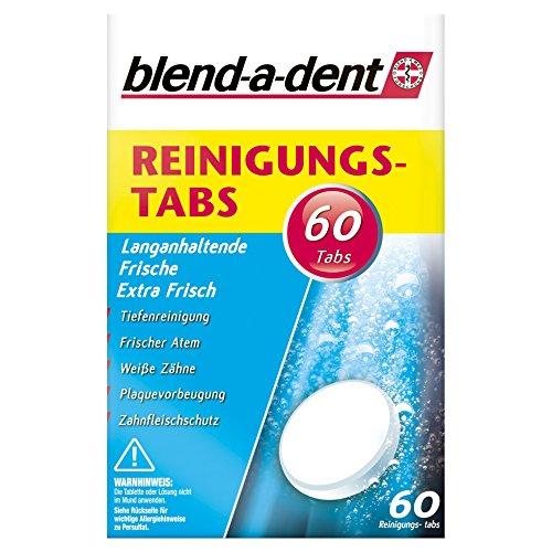 Blend-a-dent Reinigungstabs Langanhaltende Frische -Extra Frisch- 60 Tabs, 2er Pack (2 x 60 Stück)