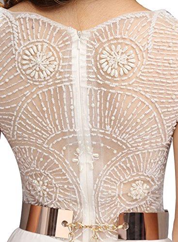 Bbonlinedress Robe de cérémonie Robe de soirée longueur ras du sol avec ceinture Jaune