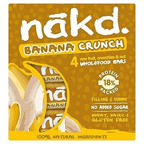Nakd Libre De La Banane Crunch Fruits & Noix Bar Multipack 4 X 30G