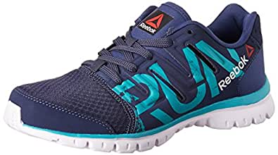 Reebok Men's Ultra Speed Running Shoes Blue, Teal, Metallic Silver and White - 4 UK/India (37 EU) (6.5 US)(BD36306.5)