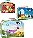 Unbekannt 1 Stück _ Kinderkoffer / Koffer - GROß -  Dinosaurier - Saurier  - incl. Name - ideal als Geldgeschenk und für Spielzeug - Mädchen & Jungen - Kinder & Erwac..