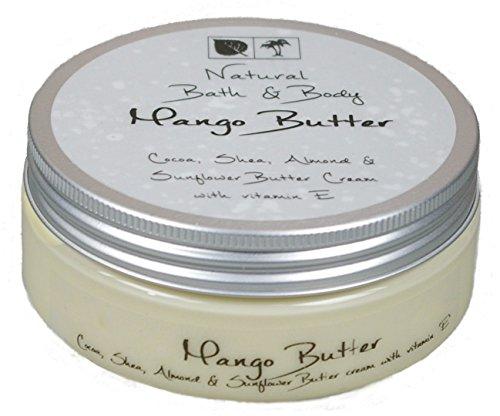 Kakaobutter Creme Handcreme Gesichtscreme MANGO 200 ml mit Sheabutter geeignet auch für sehr trockene Haut - Mango Shea Body Butter