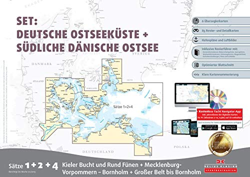 Sportbootkarten Satz 1, 2 und 4 – Set: Deutsche Ostsee und Südliche Dänische Ostsee (Ausgabe 2019)
