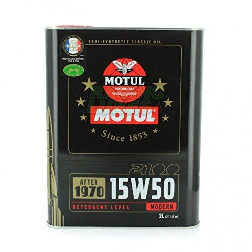 Huile Moteur Motul Classic Oil 2100 15W50 – Bidon de 2 L pas cher