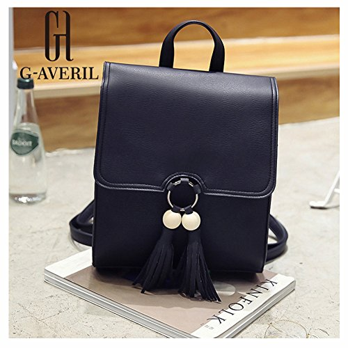 G-AVERIL GA1167-B, Borsa a zainetto donna nero Black Black
