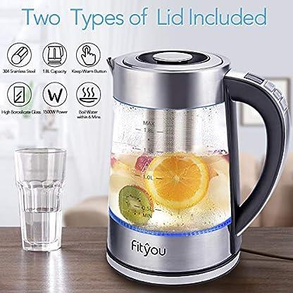Glas-Wasserkocher-Fityou-18-Liter-2200W-Wasserkocher-mit-Filterauslauf-und-LED-Innenbeleuchtung-freie-Temperatureinstellung-40-100C-24-Stunden-Warmhaltefunktion-Trockenlaufschutz-BPA-frei