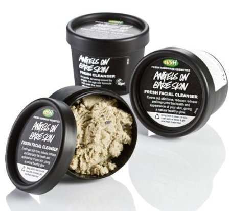 Lush Angels on Bare Facial Cleanser Skin Gentle Lavender Scrub