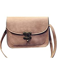 Mei&ge PU Leather Stylish Sling Bag / Purse For Women & Girls, Color - Pink (1228)