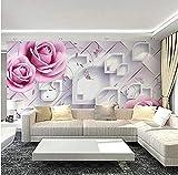 FSKJBZ Grand Revêtements Muraux Muraux En Relief Rose Rose Fleur Taille Personnalisée 3D Papier Peint Photo Stéréoscopique Murales Mur Papier Peint - 250Cmx175Cm @ 200cmx140cm