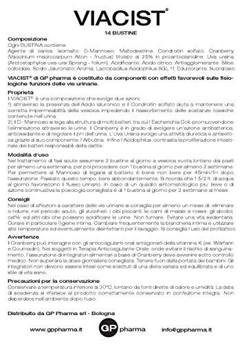 51CQO2m K7L - VIACIST® Integratore Nutraceutico costituito da componenti con effetti favorevoli sulle fisiologiche funzioni delle vie urinarie in presenza di cistite.