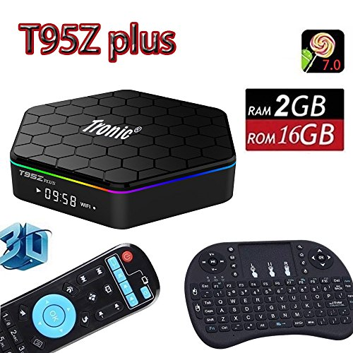 Tronic T95Z PLUS NEW RELEASE Android 7.0 OS Mini PC TV Box With Mini Keyboard Octa Core Cortex A53 CPU 2gb DDR3 Ram 16GB Hard drive 4k Ultra HD