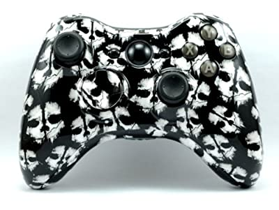 Xbox 360 Custom Wireless Elite Controller - Call of Duty Ghosts COD White Skull Control Blast UK