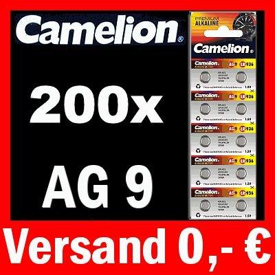 200 X AG9 LR45 Piles bouton 194 394 gp94 a SR936 W Camelion