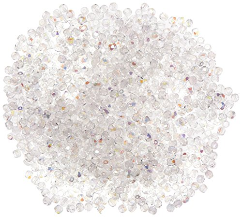 Rayher Perles transparentes en verre dépolis 1200 pièces