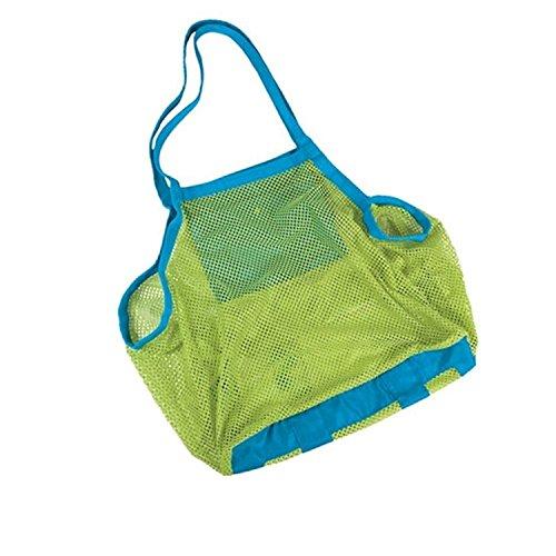 sysrion® marca e nuovo Sand Lontano Beach Mesh Bag Tote (nuoto, Giocattoli, Barca. ETC.) Stay Away da sabbia-dimensioni -XL (Verde)