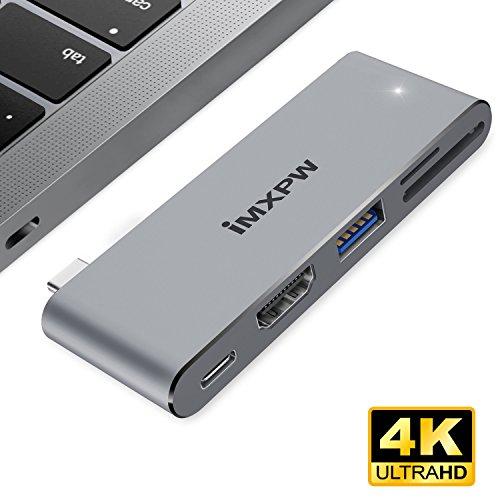 Adaptador HDMI USB C, concentrador iMXPW USB Tipo C con Salida HDMI MacBook Pro / Puerto...
