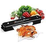 Vakuumiergerät Lebensmittel Folienschweißgerät, Lebensmittel Bleiben bis zu 8x länger frisch, Automatisch vakuumieren und schweißen Kompakt-Vakuum-Siegel für Vakuumiergeraet mit 15 pcs Gratis Bags