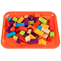 ADESHOP Children Educational Toys, Puzzle Toy Colorful Tray 9.8*7.5 inch for Early Childhood Learning Preschool Plaything ( Orange)
