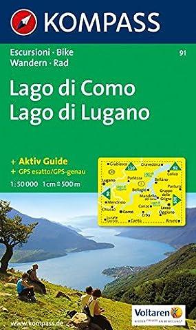 Lago Di Como - Carte touristique : Lago di Como, Lago