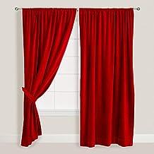Suchergebnis Auf Amazonde Für Samt Vorhang Rot