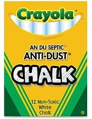 "Crayola - Anti-Dust Chalk, Nontoxic, 3-1/4""x3/8"", White, Sold as 1 Box, CYO501402"