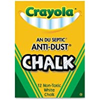 "Crayola - Anti-Dust Chalk, Nontoxic, 3-1/4""x3/8"", White, Sold as 1 Box, CYO501402"