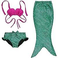 3 Piece Enfant Fille Princesse sirène Tail baignable Bikini Maillots de bain