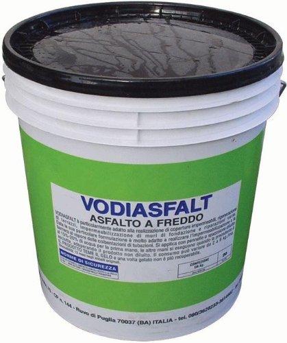 Asfalto Freddo Vodiasfalt 3Kg impermeabilizzante e Protettivo in edilizia