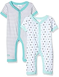 Twins Baby Boys' Romper, Pack of 2