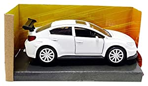 Jada Toys-Impreza WRX STI Fast and Furious Subaru, 98305W, Blanco, en Miniatura (Escala 1/32