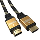 5m Premium HDMI 2.0a/b Kabel - JAMEGA | Flexibel 144 Hz Highspeed 4K ARC CEC 3D Ethernet 2160p U-HD 24K Vergoldet