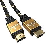 5m Premium HDMI Kabel 1.4a/2.0 Highend 4K 3D Ethernet Full HD LCD LED TV Monitor Zehn Meter 24K Vergoldet | CEC | Arc | 2160p | Blitzversand | Fünf Meter