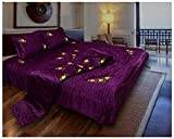 Mahadev Handicrafts Designer Home Decor Embroidery Double Bed Wedding Bedding Set (Set Of 4 pcs) - Purple,(SET OF 2) Amazon Rs. 17999.00