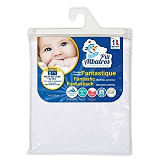 P'tit Albatros Fantastic 2-in-1 Mattress Protector Grey