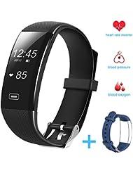 Fitness tracker, Hobest Bluetooth 4.0 Smart Bracelet Tracker est un tracker de remise en forme, waterproof, C'est un bracelet d'activité avec Wechat / Facebook Rappel pour Smartphone