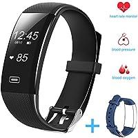 Fitness tracker HR, Hobest Smart Bracelet,Wearable Waterproof Activity Tracker Pedometer Wristband with Heart Rate Monitor,Calorie Burn, Sleep Monitor Smartwatch for Kids Women Men