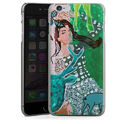 Apple iPhone X Silikon Hülle Case Schutzhülle Frau Hirsch Muster Hard Case anthrazit-klar