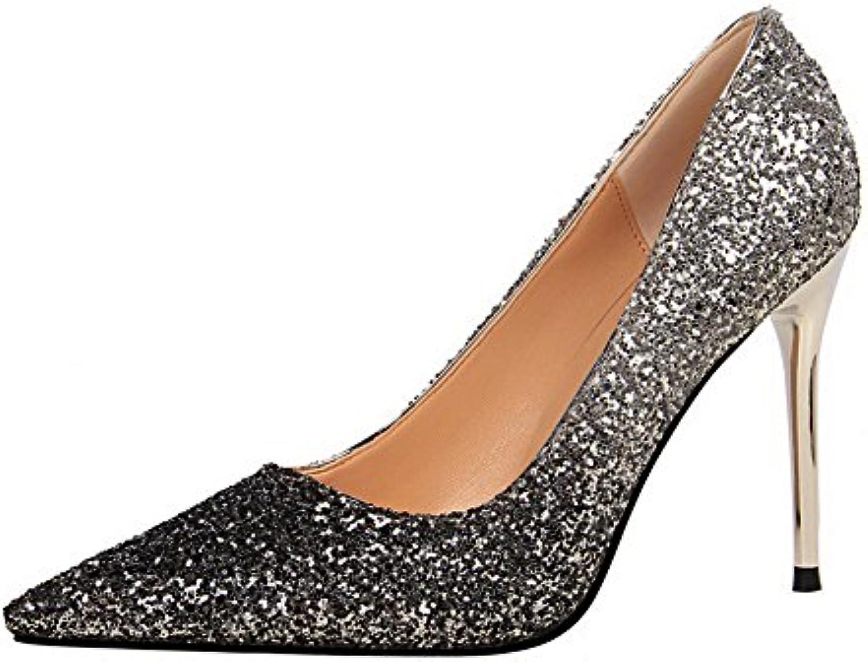 bc011f6c74de28 allhqfashion femmes a pu tirer sur les les les talons des pompes à bouts  fermés couleurs chaussures b07b8n646k parent   économique Et Pratique 56f732