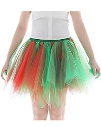 MRULIC Damen Tüllrock 50er Rockabilly Petticoat Tutu Unterrock Kurz Ballett  Tanzkleid Ballkleid Abendkleid Gelegenheit Für Kleid 1739ace810