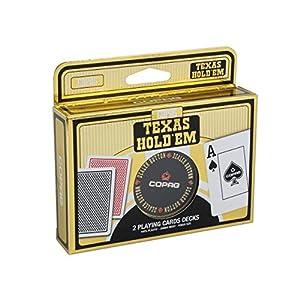 Ass Altenburger 5411068400728-Copag plástico póquer-Doble Deck con Dealer butten de Metal
