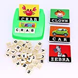 Enlarge toy image: MengTing Alphabet Letter Word Spelling Game Spell Words Board Game for Kids Preschoolers Learning Great Educational Play Set