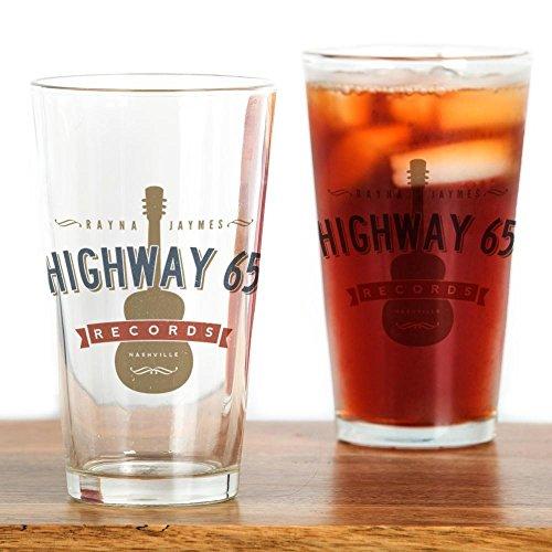 way 65Records Nashville–Pint-Glas, 16oz Trinkglas farblos (Pint-glas)