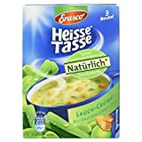Erasco Heisse Tasse Lauchcreme mit Knusper-Croûtons, 3 Beutel, 52,8 g