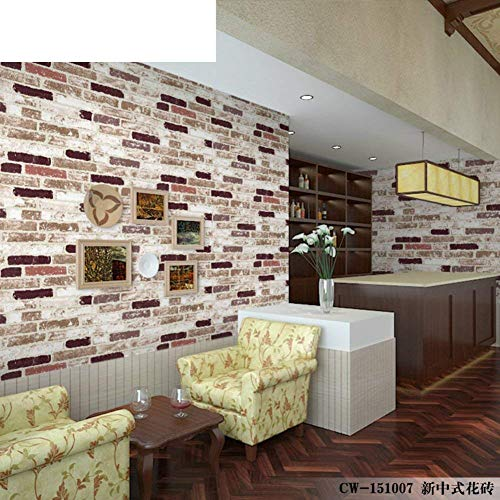Rétro Papier Peint En Brique Verte, Restaurant Chinois Salon 3D Papier  Peint Salon De Coiffure