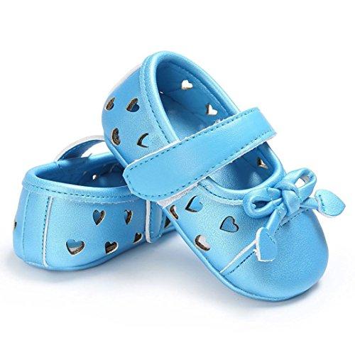 Babyschuhe, Switchali Baby schuhe mädchen Bowknot-lederner Schuh-Turnschuh Anti-Rutsch weiches Solekleinkind für 0-18 Monate Blau